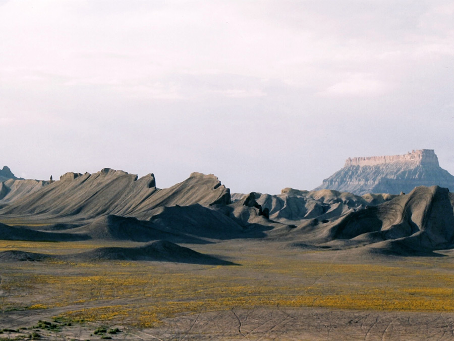 Ridges south of the butte