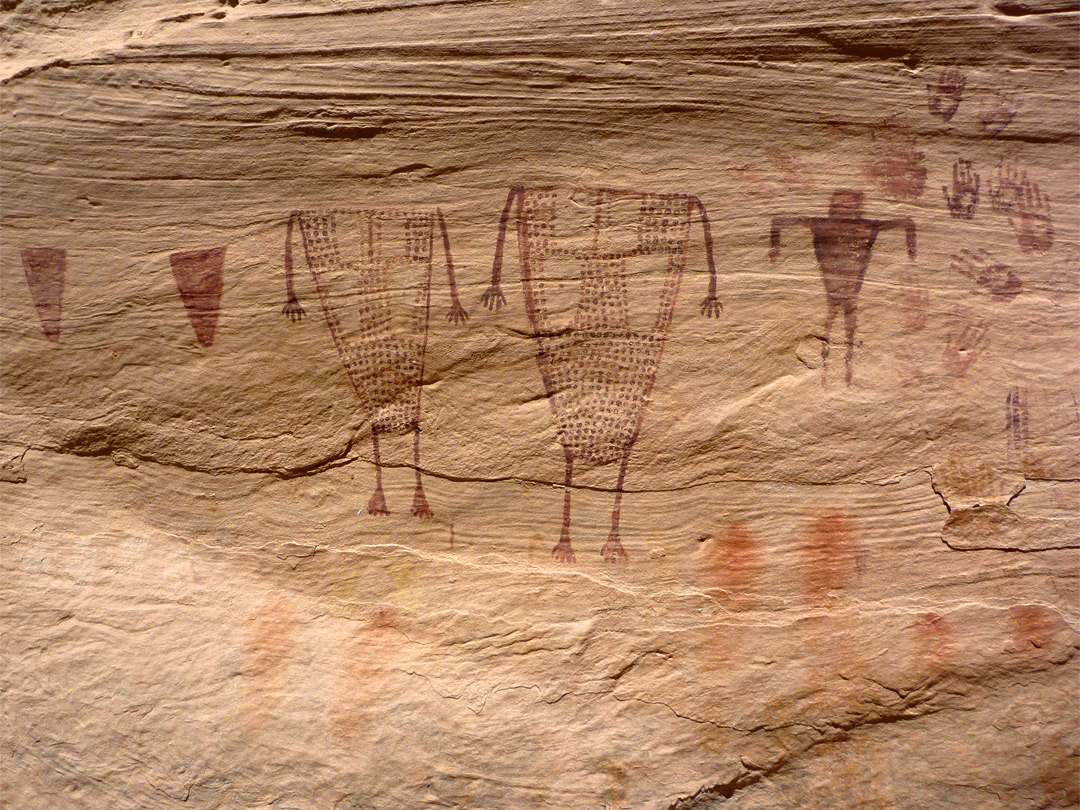 Green Mask pictographs