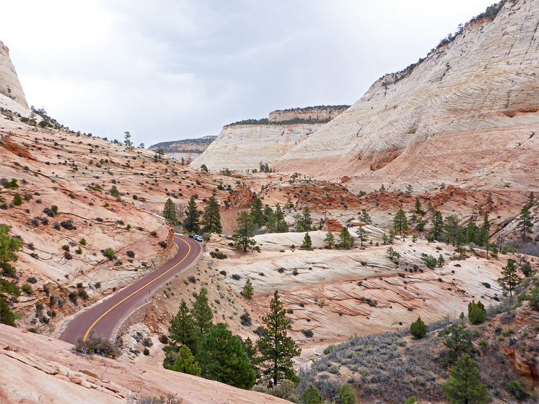 Hwy 9 west of Checkerboard Mesa