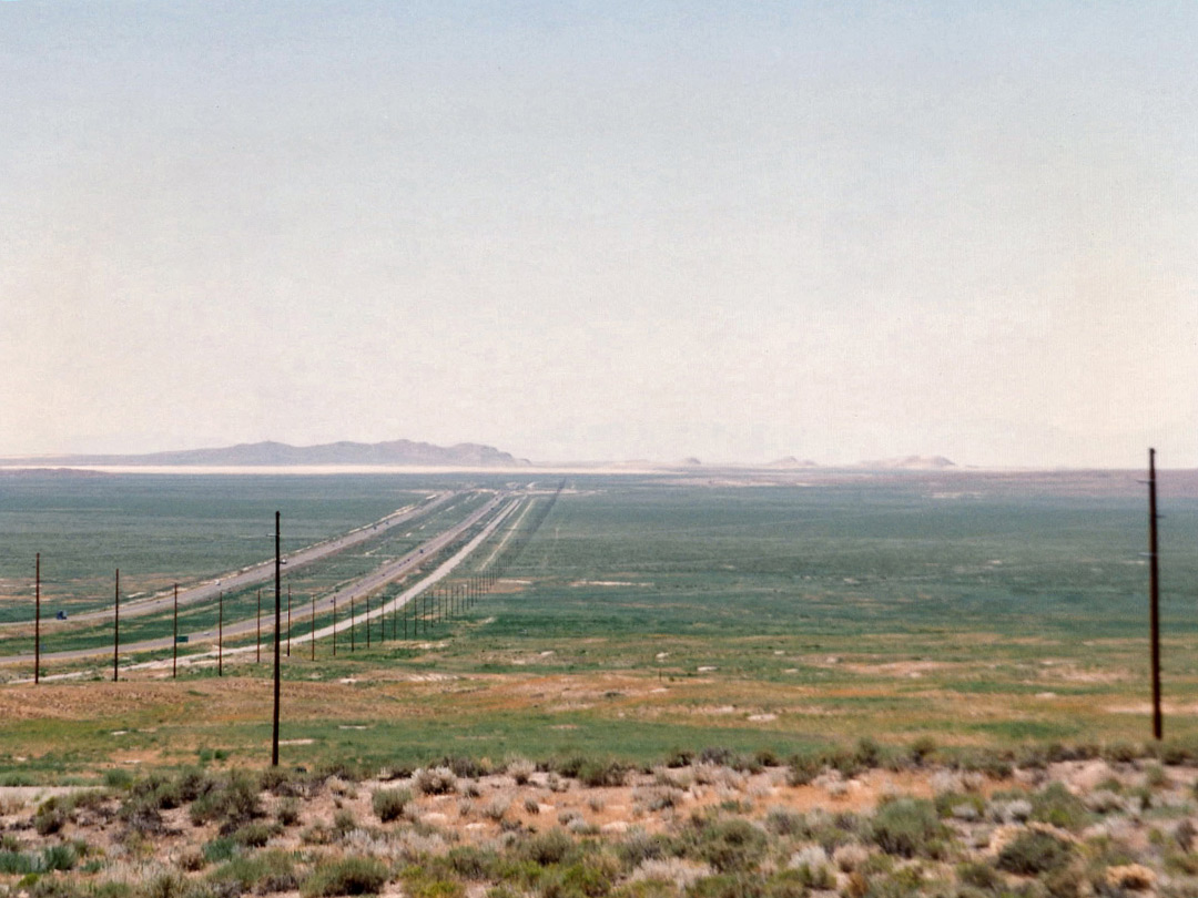 I-80 approaching the Salt Lake Desert