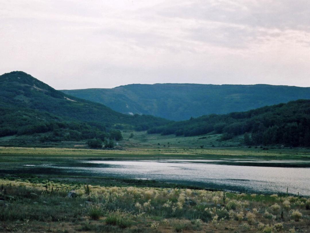 Gloomy day at Kolob Reservoir: the Kolob Reservoir Area, Zion National ...