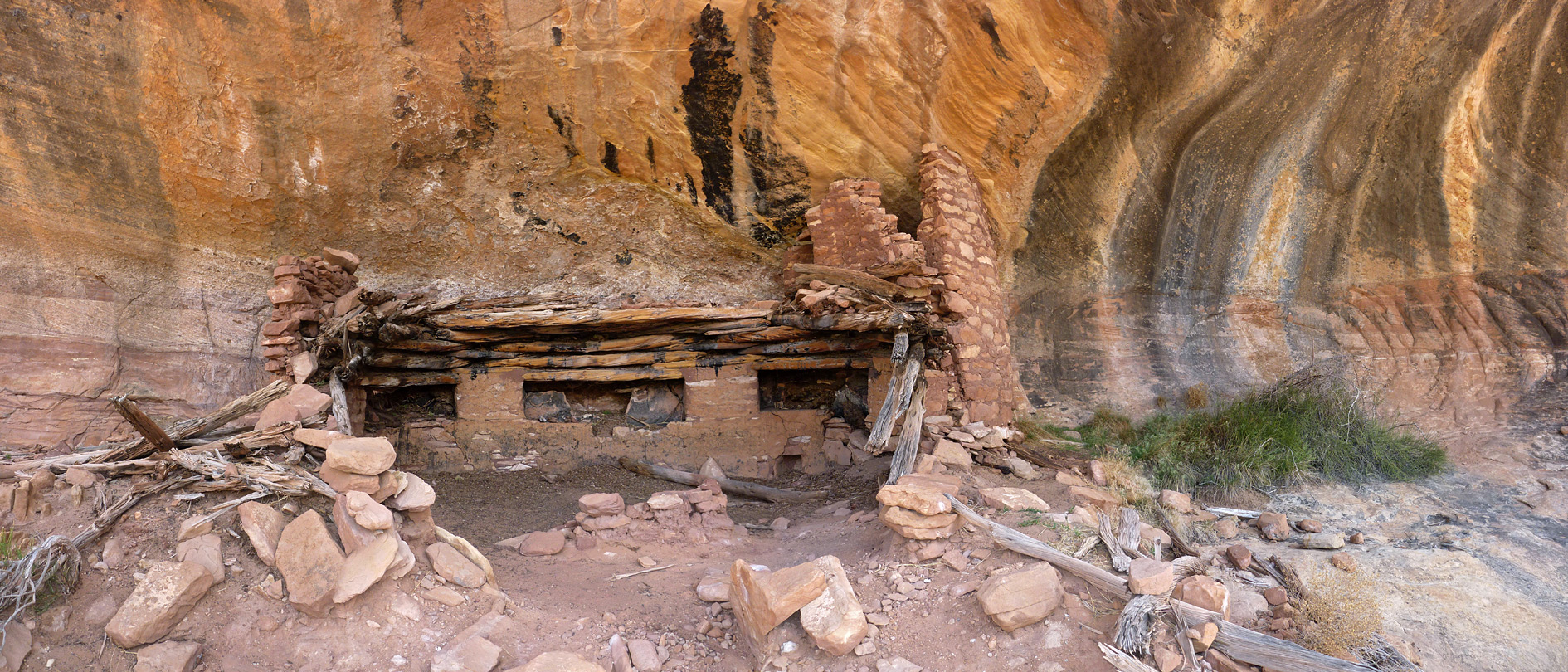 Fire damaged kiva