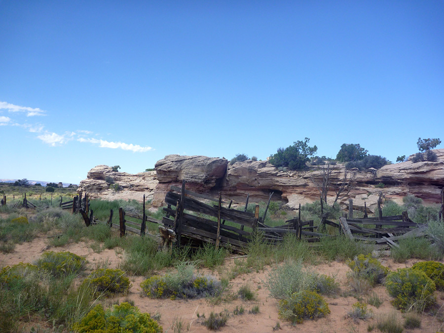 Corral along the trail