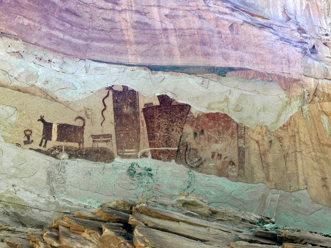 Pictographs The San Rafael Swell Utah