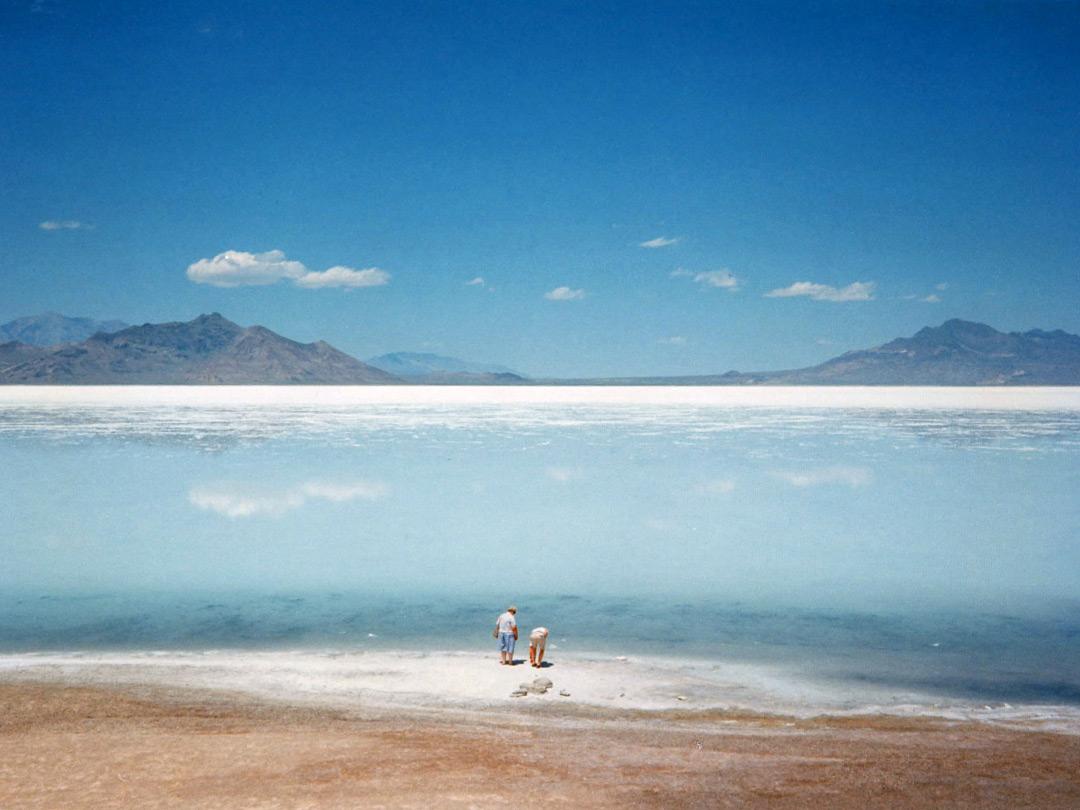Water On The Salt Lake Desert The Salt Lake Desert Utah