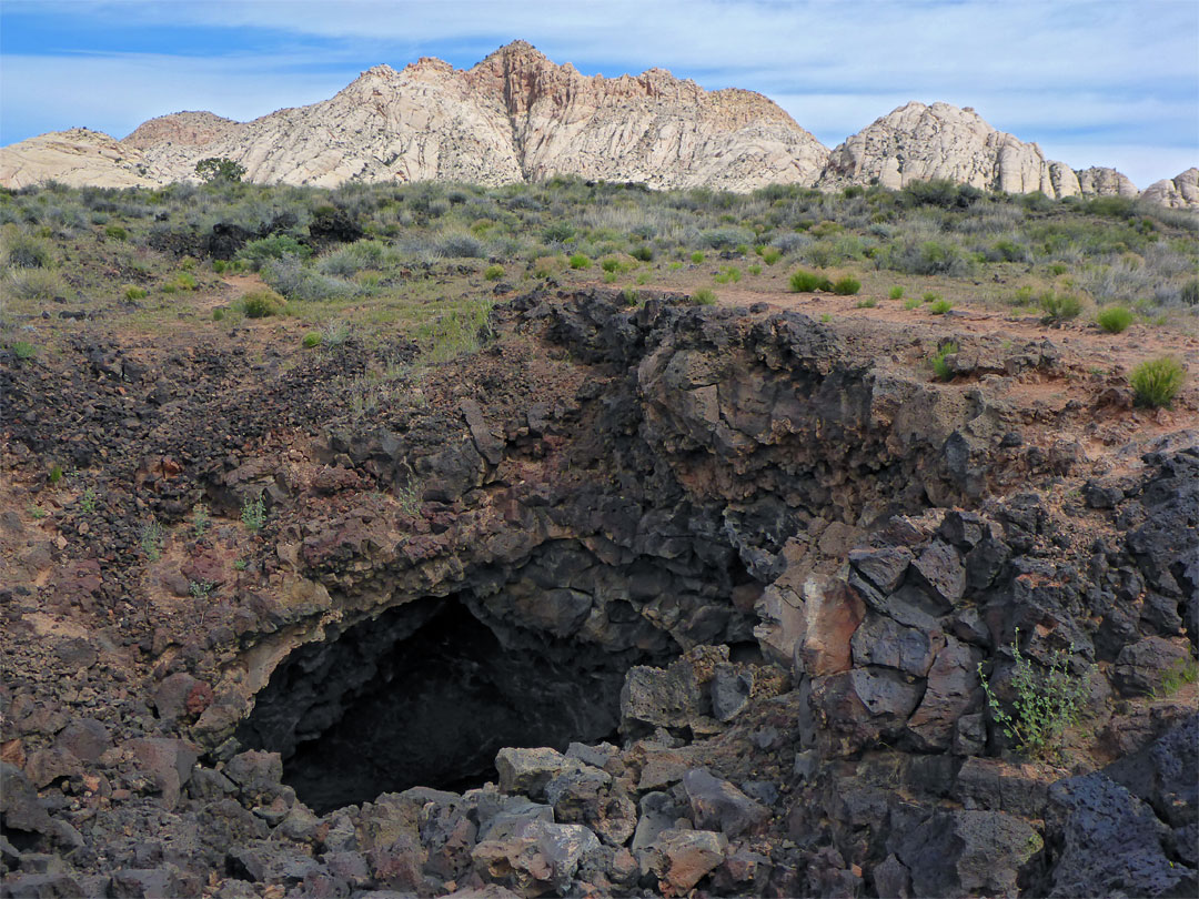 Lava Cave  Whiterocks And Lava Flow Trails  Snow Canyon