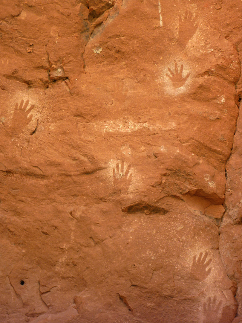 Six handprints