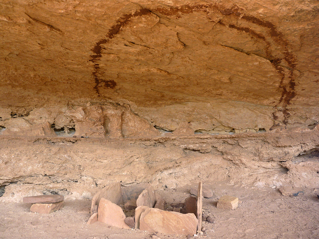 Pictograph and stonework
