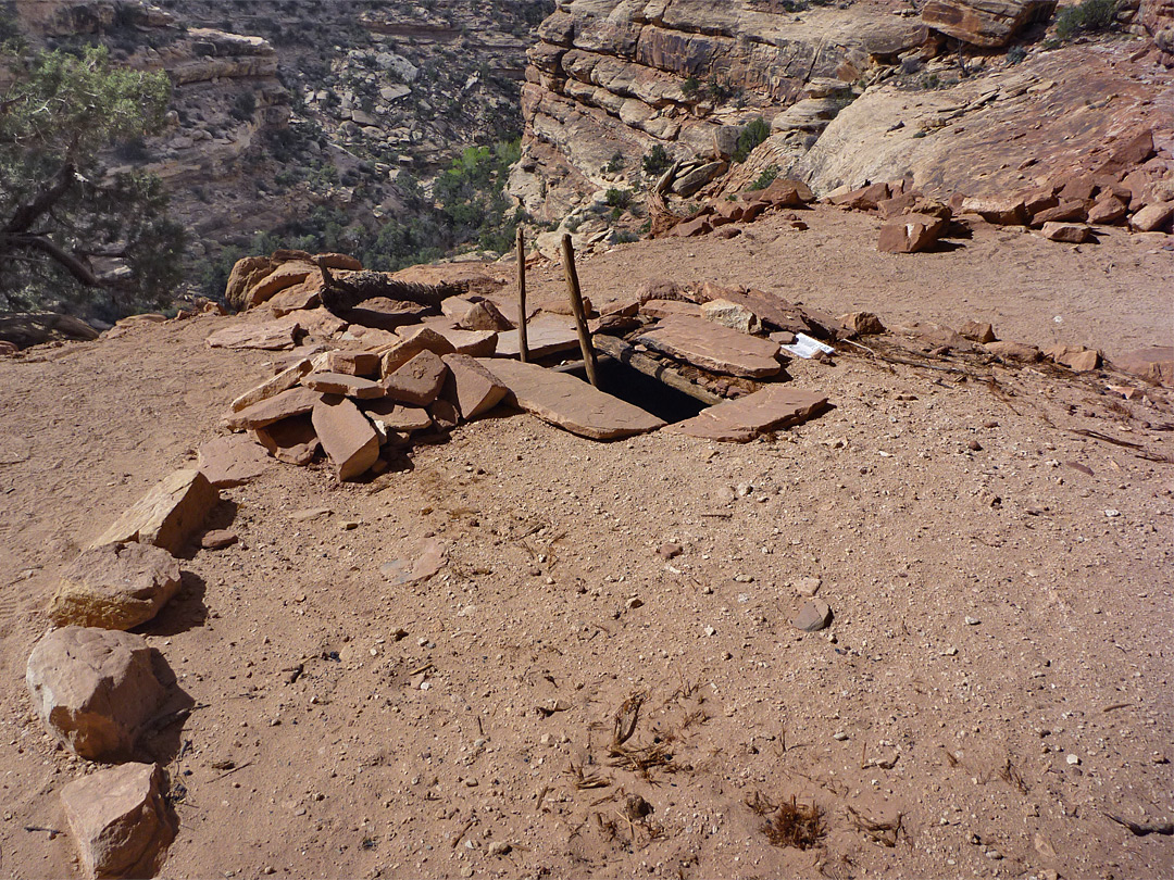 Ladder at the entrance to Perfect Kiva