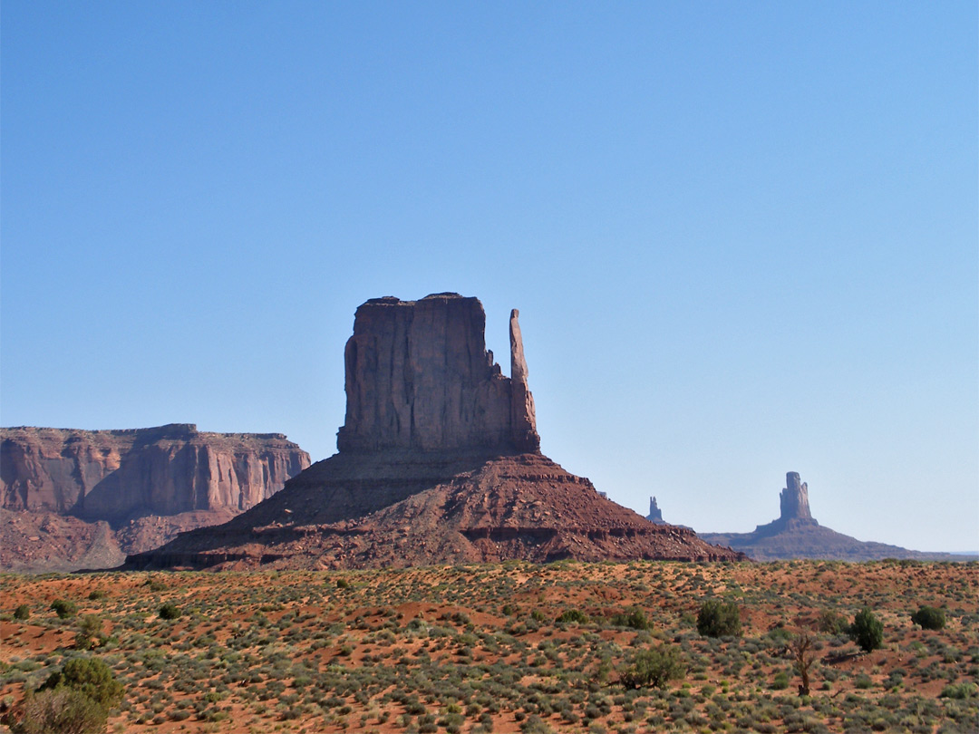 West Mitten Butte, partly in shadow