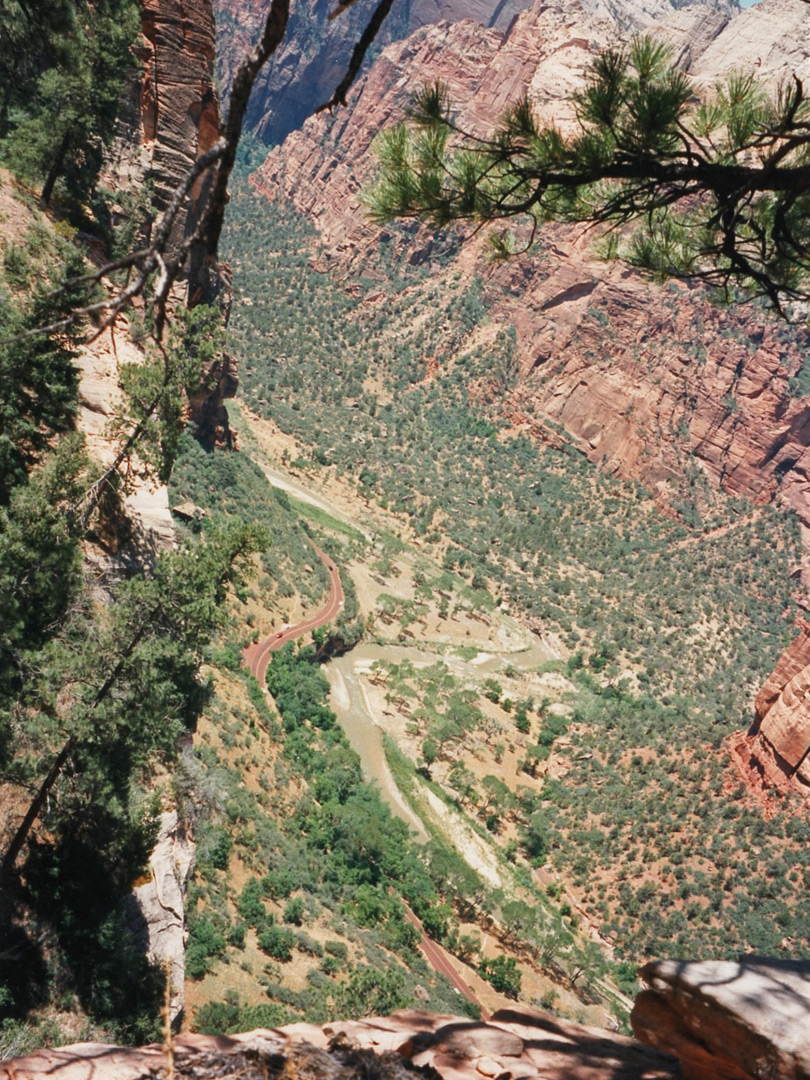 Zion Canyon, from the start of Hidden Canyon
