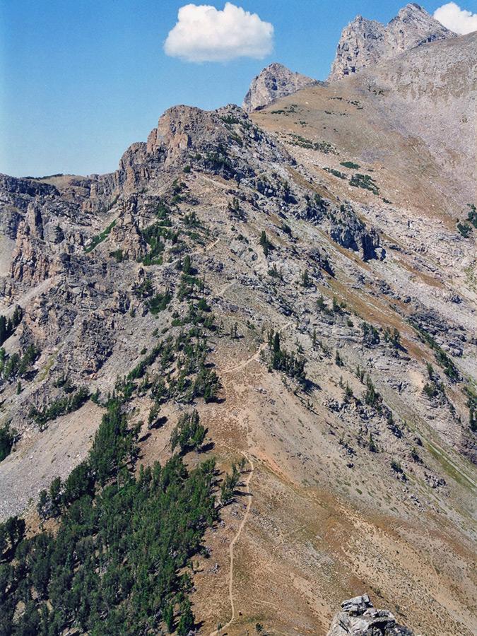 Alaska Basin Trail Death Canyon And Albright Peak Grand