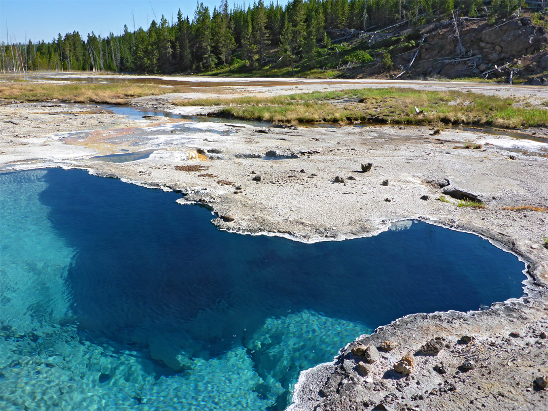 Gibbon Hill And Geyser Creek Yellowstone National Park