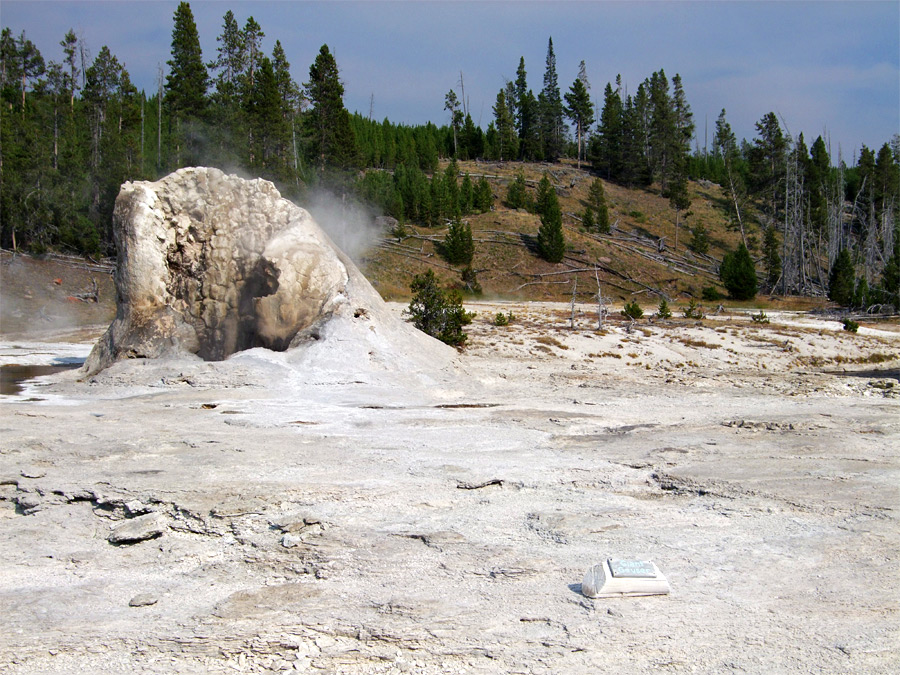 Giant Geyser, gently steaming