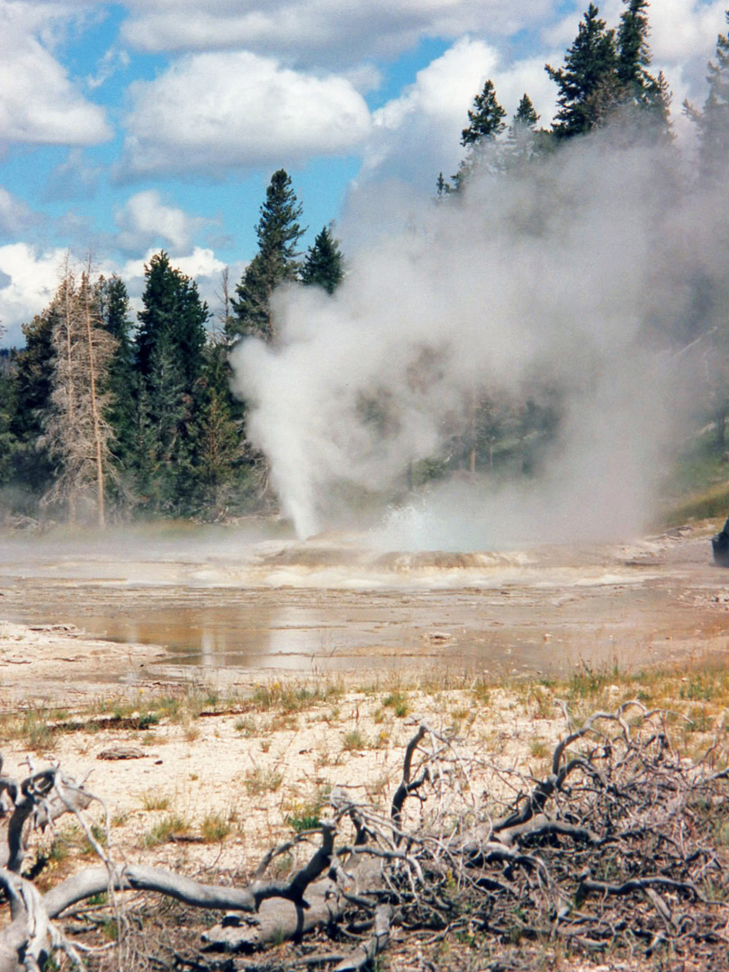 Steam from Grand Geyser
