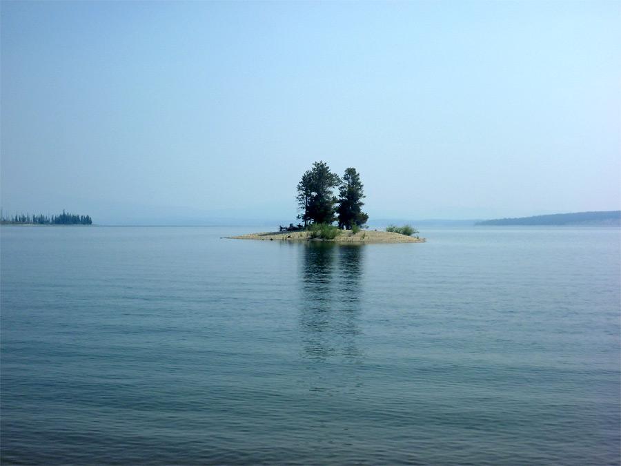 Language In 45 And 47 Stella Street: Small Island: Leigh Lake And Moran Bay, Grand Teton