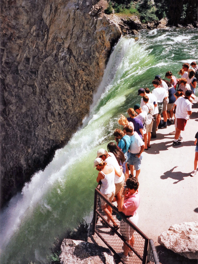 Tourists at the Lower Falls