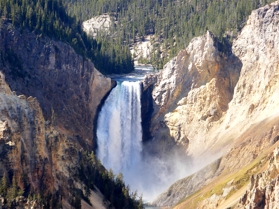 Top Of Lower Yellowstone Falls Grand Canyon Of The
