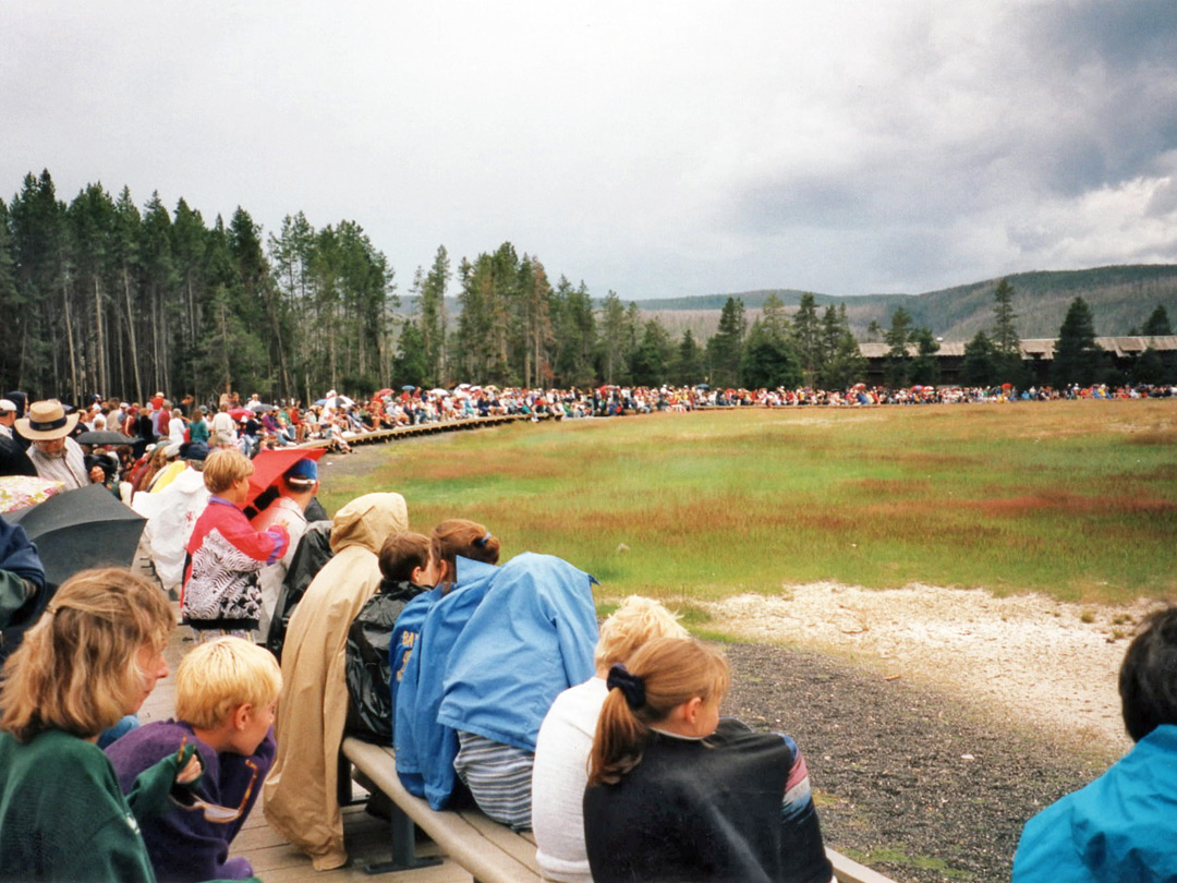 Crowd at Old Faithful