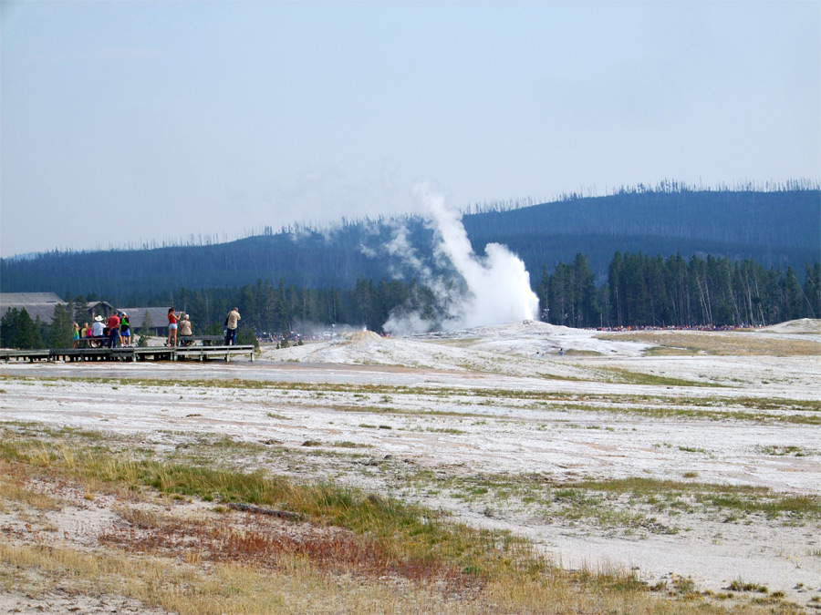 North side of Old Faithful Geyser