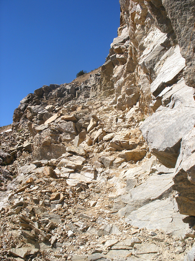 Rocky section of the trail