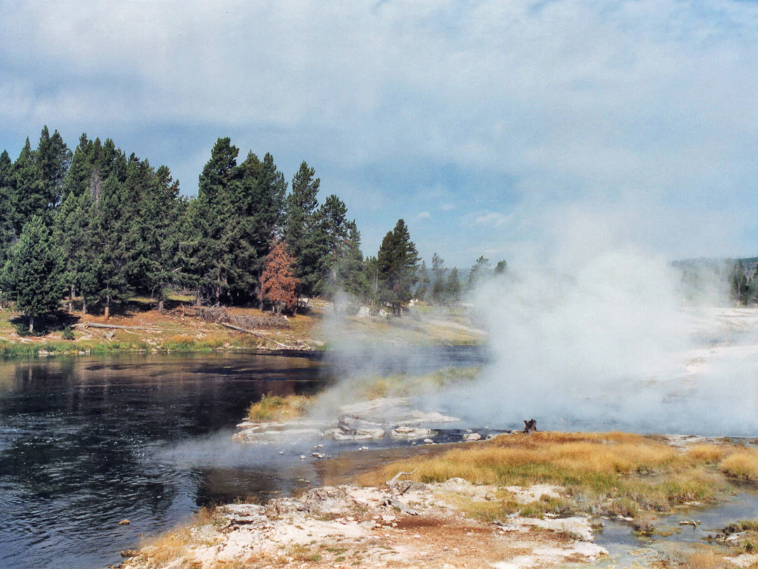 Firehole River - steam vents