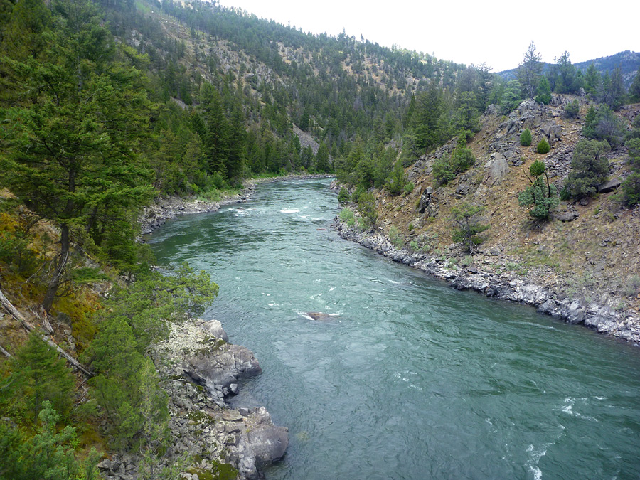 Deep waters of the Yellowstone River